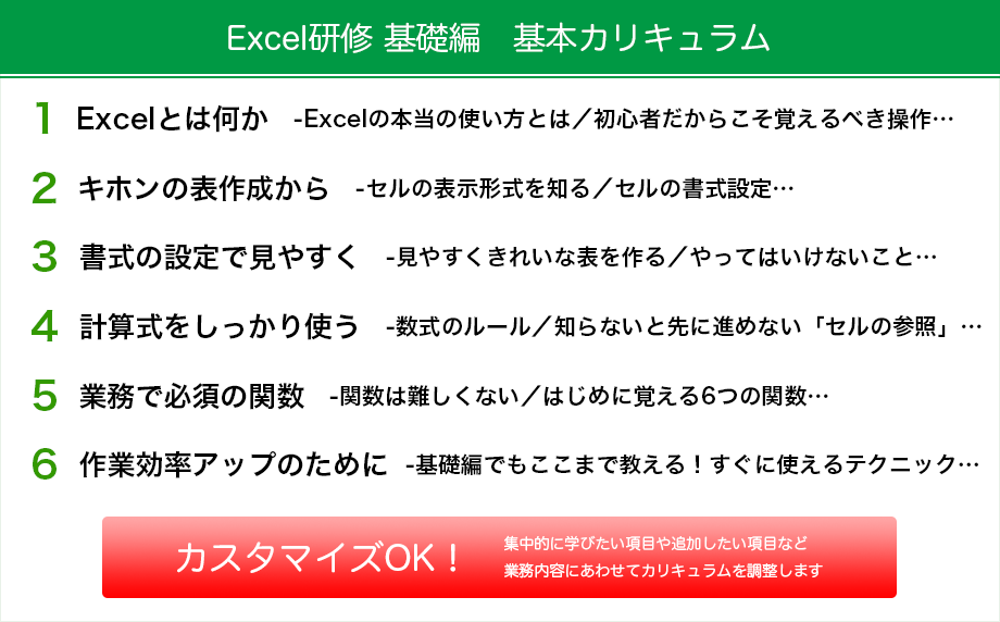 Excel研修 基礎編